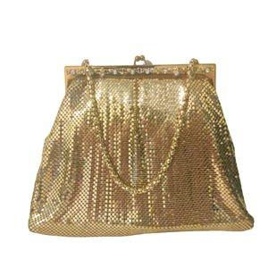 Vtg 40s Whiting & Davis jeweled bag in EUC